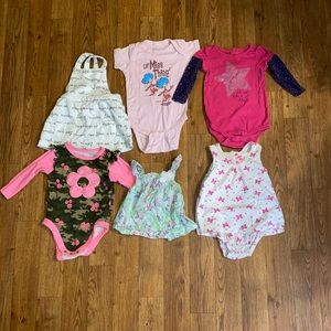 Baby girl size 12 month body suits